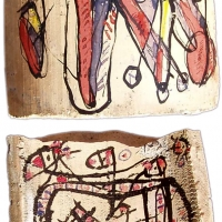 Hawad, Peinture sur tesson