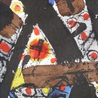 Oeuvre sur toile de Hawad, détail