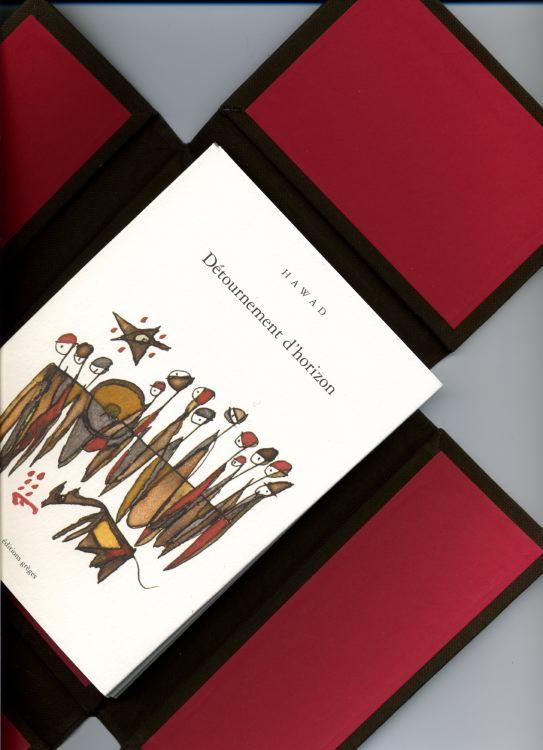 Cette édition originale de Détournement  d'horizon est sortie des presses de Gérard Bourdarias à Montpellier dont trente exemplaires numérotés sur arches expression 160 gr, 5 quadrichromies, et accompagnés d'une encre originale de Hawad.