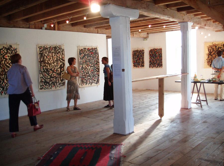 Expositions de Hawad à la Minoterie, en 2005